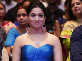 South Indian actress Tamannaah Bhatia at Abhinetri audio launch. Tamannaah Bhatia will be seen essaying the role of an actress in upcoming trilingual horror-comedy