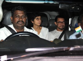 Bollywood actor Aamir Khan watches Pink movie with Dangal movie Team.