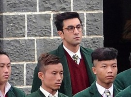 Bollywood actor Ranbir Kapoor spotted on the sets of Jagga Jasoos.
