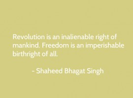 Bombs and pistols do not make a revolution. The sword of revolution is sharpened on the whetting-stone of ideas. - quote by Bhagat Singh