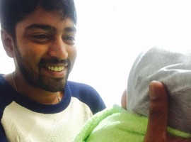 South Indian actor Allari Naresh blessed with a baby girl.