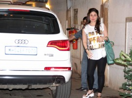 Bollywood actress Kareena Kapoor Khan spotted at bandra out side of her house.