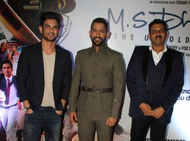 The recent screening of M.S. Dhoni: The Untold Story was a star-studded affair. Celebs like Sakshi Dhoni, Mahendra Singh Dhoni, Sapna Bhavnani, Disha Patani, Deepshika Bhagnani, Dheeraj Deshmukh, Pooja Bhagnani, Vashu Bhagnani, Manoj Tiwari, Sushant Singh Rajput, Bhushan Kumar, Divya Khosla Kumar, Kiara Advani and others graced the event.
