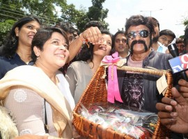 South Indian Actor Nandamuri Balakrishna launches Institute of Indian Interior Designers (IIID) Design Yatra in Hyderabad.