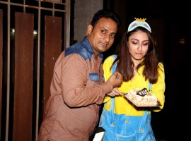 Bollywood actress Soha Ali Khan birthday party at her house.