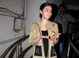 Photos of Bollywood actress Alia Bhatt spotted at PVR mumbai.