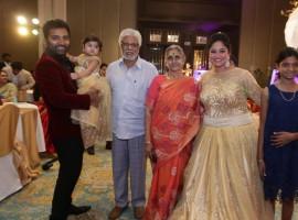 Dance Master Shobi's daughter Syamantakamani 1st birthday celebration held in Chennai. Celebs like Jyothika, Vignesh Shivan, Arun Vijay, KS Ravikumar, DD Divyadarshini, Ap Shreethar, Gayathri Raghuram, Preetha Hari, Dharani, Renuka Devi, Suseenthiran, Ameer Sultan, Thiru, Sangeetha Daughter Shivhiya, Krish, Rajiv Menon, Bharath, Rajesh M Selva, Latha Menon, Devi Sri Prasad, Prasanna, Riyaz Khan, Uma, K Bhagyaraj, Shariq Khan, Poornima, Shanthanu, Keerthi, Editor Mohan, Varalakshmi graced the event.