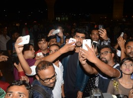 Photos of Bollywood actor Arjun Kapoor leaves to Ladhak for a Magazine shoot.