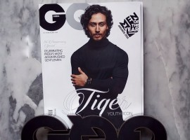 Tiger Shroff, has got heads turning by showcasing his transformation to smokin' HOT in this magazine cover. The actor appeared on the cover of GQ magazine for their October anniversary issue. Donning a black polo neck T-shirt, Tiger Shroff carries a look that will get all the girls weak in their knees.