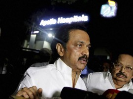 DMK's Stalin visits Apollo Hospital; wishes Jayalalithaa speedy recovery. Tamil Nadu Chief Minister J.Jayalalithaa continues to be under constant montoring by specialist doctors, said Apollo Hospital on Saturday. In a statement issued here, Apollo Hospitals said she is under constant monitoring by intensivists and consultants in the panel.
