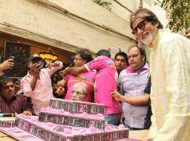 On his 74th birthday on Tuesday, Bollywood megastar Amitabh Bachchan unveiled a jukebox gifted to him by his fans. He said it is