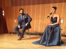 Ranveer Singh, Vaani Kapoor at the trailer launch of 'Befikre' in Paris.