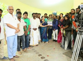Tamil movie Nagesh Thiraiarangam Pooja event held at Chennai. Celebs like Aari, Ashna Zaveri, Kaali Venkat, Latha, MS Prabhu, Mohamad Issack and others graced the event.