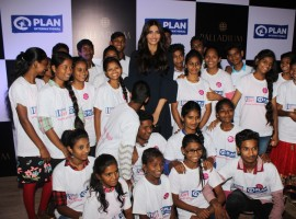 Photos of Bollywood actor Sonam Kapoor with children of Plan India during the 7th Anniversary celebration of Palladium organised by Plan India.