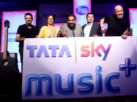 TataSky operator launched a new service with four music genres on a Pay TV platform, named 'Music+' in partnership with digital entertainment company Hungama in Mumbai on Oct 12, 2016. Music composer Shankar Mahadevan, Ehsaan-Loy, Pallavi Puri, Chief Commercial Officer Tata Sky and Siddhartha Roy, CEO graced the event.