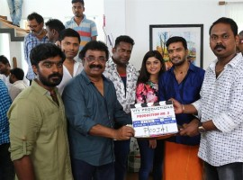 South Indian Actor Santhanam's next untitled movie launched in Chennai. Directed by Sethuraman and produced by VTV Productions. Celebs like Robo Shankar, VTV Ganesh, Vaibhavi Shandilya and others graced the event.