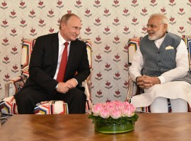 Prime Minister Narendra Modi on Saturday welcomed Russian President Vladimir Putin to India ahead of bilateral summit and BRICS heads of states meet in Goa. Modi on twitter greeted Putin, who arrived here early Saturday morning, saying:
