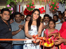 Photos of South Indian Actress Raashi Khanna launches Biryani Restaurant at Chandanagar in Hyderabad on Sunday.