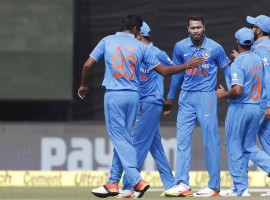India defeated New Zealand by six wickets in the first One-Day International (ODI) at the Himachal Pradesh Cricket Association (HPCA) Stadium here on Sunday.