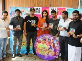 Tamil movie Kavalai Vendam Movie Audio launch event held at Suryan 93.5 FM, Chennai. Celebs like Jiiva, Sunaina, Leon James, Deekay, Elred Kumar and others graced the event.