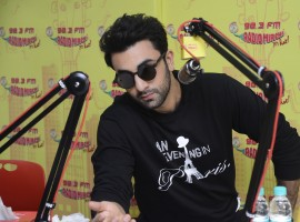 Photos of Bollywood actor Ranbir Kapoor promotes Ae Dil Hai Mushkil on Radio Mirchi 98.3 Studio.