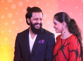 Photos of Bollywood actor Riteish Deshmukh and Genelia D'souza during the launch of the Labour Analgesia App in Mumbai on Oct 16, 2016.