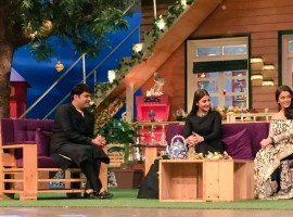 Photos of Actor Ranbir Kapoor, Aishwarya Rai, Anushka Sharma promote Ae Dil Hai Mushkil at Kapil Sharma's show.