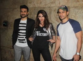 Actor Vir Das recently hosted a special screening for his close friends and family for his upcoming movie '31st October'. His close friends from the industry also attended the screening along with his Co-star Soha Ali Khan. Also present at the event were Kunal Khemu, Neha Dhupia, Rannvijay Singh, Milap Zaveri, Ashwin Mushran amongst many others. Now, we can not wait to see the movie where Vir is playing a serious role for the first time. The movie releases on 21st October.