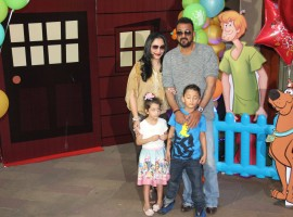 Photos of Sanjay Dutt's twins Iqra, Shahraan's birthday party. Celebs like Arpita Khan, Bunty Walia, Milan Luthria, Malaika Parekh, Kaykasshan Patel and others graced the event.