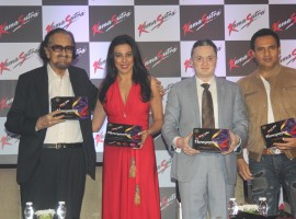 Theater personality and ad filmmaker Alyque Padamsee, actor Pooja Bedi, Gautam Singhania, CMD, Raymond Group and model Marc Robinson during the launch of KamaSutra Honeymoon Surprise Pack, in Mumbai, on Oct 21, 2016.