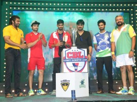 Celebrity Badminton League 4th match inauguration event held at Gachibowli Indoor Stadium in Hyderabad. Celebs like Naga Chaitanya, Arya, Jayaram, Prasanna, Vaibhav Reddy, Tarun, Srikanth, Lakshmi Manchu, Aindrita Ray, Sanjjanaa, Tejaswi Madivada, Suja Varunee, Sudheer Babu, Iniya, Gayathrie Shankar, Rupa Manjari Sanghavi and other stars have graced the event.