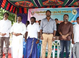 Photos of Tamilnadu Nadigar Sangam 2016 Diwali Gift Distribution event held at Chennai. Celebs like Nassar, Vishal, Rajkiran, Karunas, Manobala, Ponvannan and others graced the event.