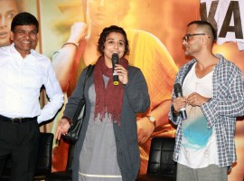 Photos of Filmmaker Sujoy Ghosh and actress Vidya Balan during the trailer launch of film Kahaani 2 on Oct 25, 2016.