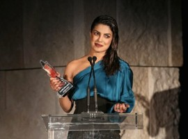 Bollywood actress Priyanka Chopra awarded 'Breakout Style Icon' at the Instyle Awards.