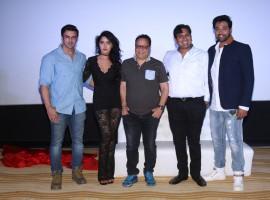 Photos of Actors Rajbir Singh, Divya Singh and Akshay Rangshahi during the song launch of film Ishq Junoon, in Mumbai, on Oct 26, 2016.