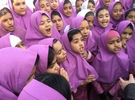 Iranian and Afghan girls gather at the Emam Hasan Mojtaba school in Kerman, Iran, October 23, 2016. To help stem the influx of Afghan refugees to Europe, the European Union is increasing aid to certain countries on migrant routes in the hope of persuading people there to stay put. So far these have included Turkey, Jordan, Lebanon and some African countries. Now the EU is trying this strategy in Iran, which sits on the main transit route for Afghan refugees -- the second-largest group after Syrians to have reached Europe by sea last year.