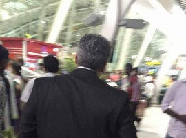 Photos of South Indian actor Thala Ajith spotted at Chennai Airport.
