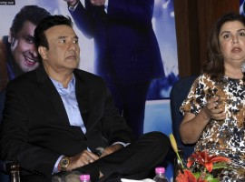 Music Director Anu Malik and Director and Choreographer Farah Khan during a press conference regarding Indian Idol Season 7 in Kolkata on Nov 14, 2016.