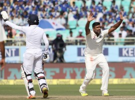 Star off-spinner Ravichandran Ashwin notched up a five-wicket haul as England were bowled out for 255 in their first innings on the third day of the second cricket Test against India here on Saturday.