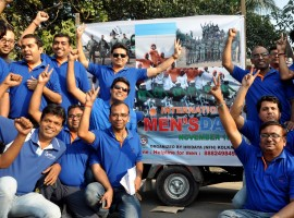 Photos of People participate in a car rally to commemorate International Men's Day in Kolkata on Nov 19, 2016.