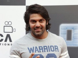 Photos of South Indian actor Arya at 2.0 first look launch.