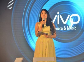 Photos of South Indian actress Dhansika launches Vivo V5 Mobile.