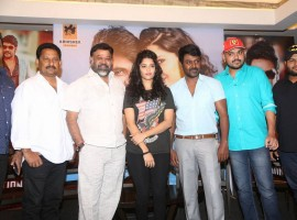 Tamil movie Shivalinga press meet event held in Chennai. Celebs like Raghava Lawrence, Ritika Singh, Director P. Vasu and others spotted during the event.