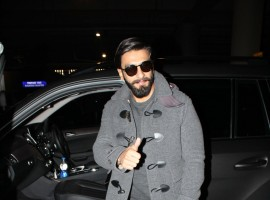 Photos of Bollywood actor Ranveer Singh snapped as he returns from London.