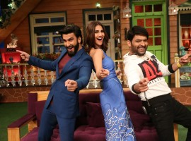 Photos of Ranveer Singh and Vaani Kapoor promote Befikre on the sets of The Kapil Sharma Show.