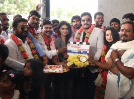 Tamil movie Chennai to Bangkok launched in Chennai. Celebs like Powerstar Srinivasan, Sony Charishta, Jai Akash, Prabhu Solomon, Thiyagaraj, Yazhini, Ashvin Raja, UK MUrali, Ponnambalam, Chaams and others graced the event.