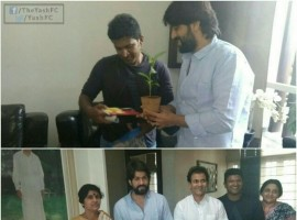 South Indian actor Yash invites Shivaraj, Puneeth and Raghavendra Rajkumar for his marriage.