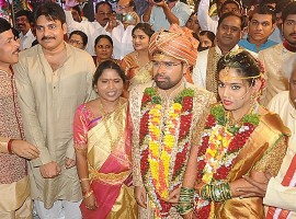 Photos Powerstar Pawan Kalyan at Bandaru Dattatreya's daughter's wedding.