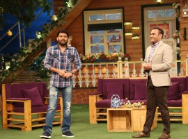 Photos of Virender Sehwag on the sets of The Kapil Sharma Show.