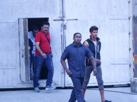 Photos of Bollywood actor Hrithik Roshan spotted at Mehboob Studio.
